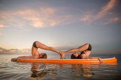 SUP Partner Yoga ~ Halasana