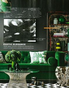 Real living created a sumptuous set that features our artwork 'The Statement' for their article, Jungle Fever. We love it!    Real Living April 2013  The Statement  Product code 00223