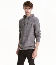 It's all in the details. Even a hoodie can look great for fall photos when it's done right. This one from H&M is sold in mens sizes. Note the henley button neckline, ribbed sleeves, slightly patterned fabric preventing it from being a complete solid and of course it's a great neutral!  hm.com