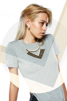 v e e r // etch ss16 shopETCH.com laser cut statement necklace wood and leather
