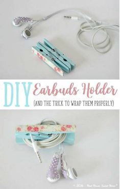 Crafts To Make and Sell - DIY Earbuds Holder - 75 MORE Easy DIY Ideas for Cheap Things To Sell on Etsy, Online and for Craft Fairs. Make Money with These Homemade Crafts for Teens, Kids, Christmas, Su Diy Projects To Sell, Crafts To Make And Sell, Sell Diy, Craft Tutorials, Craft Projects, Craft Ideas, Diy For Teens, Crafts For Teens, Kids Diy