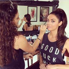 #bts of @marissapowell8 for #tpfcosmetics #summeradcampaign #summer2015 #summermakeuo #summertrends #ponytail #fullponytail #highponytail #naturalmakeup #cleanmakeup #glowymakeup #makeup #cosmetics #theperfectface #danielledoyle #nudelips #missutahusa