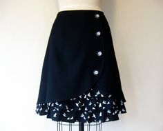 Flight wool ruffle front skirt Sz 8 by LoveToLoveYou on Etsy