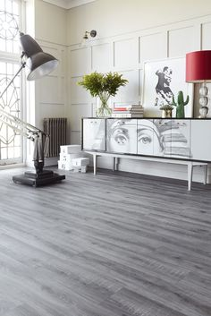 Ultimate Style is Avenue Floors' newest collection. Visit our site for more decors like this! www.avenuefloors.co.uk Hallway Inspiration, New Living Room, Colour Schemes, Floors, Entryway Tables, New Homes, Dining Room, Cabinet, Storage