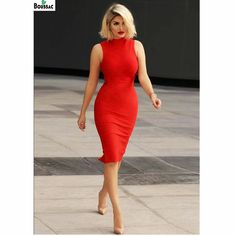 Modelo de vestido tubinho vermelho The Effective Pictures We Offer You About REd dress aesthetic A quality picture can tell you many things. Elegant Outfit, Classy Dress, Classy Outfits, Elegant Dresses, Sexy Outfits, Chic Outfits, Sexy Dresses, Cute Dresses, Casual Dresses