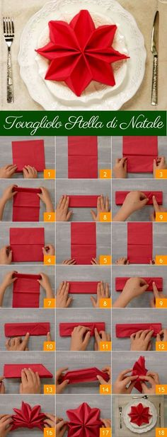 ideas DIY Christmas table decorations ideas napkin folds for 2019 (no title) Christmas napkins and unusual folding ideas - Christmas party - All about ChristmasFancy Christmas Napkin Folding Ideas - Christmas Party - All Christmas Tree Napkin Fold, Christmas Napkins, Christmas Star, Christmas Carol, Amazon Christmas, Origami Christmas, Halloween Christmas, Christmas Ideas, Christmas Table Settings