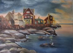 Seaside. Exercise done with Johannes Vloothuis. 2014. Oil