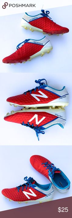 389c993509 Ladies  New Balance Red Visaro Soccer Shoes 8.5 The amazing bright colors on  these great