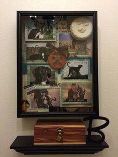 Memorial shadow box for our dog Bella