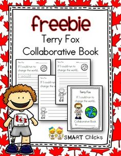 FREEBIE! Terry Fox is a beloved Canadian hero who was determined to make a difference. Help inspire your students to change the world, with our Terry Fox Collaborative Book FREEBIE! This product includes:-a title page for your collaborative book-3 different modified pages to meet the needs of all the learners in your classroomThis activity is also a great way to help motivate your students to raise money for the Terry Fox Walk/Run!Thank you for downloading our resource!