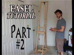 DIY How to Make an Adjustable Artist Easel - part 2