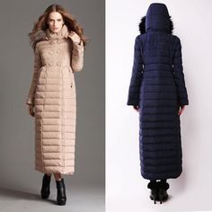 Cole Haan Oversize Collar Long Down & Feather Coat available at ...