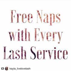 Lash naps!