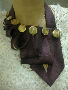 Женский галстук-воротник великолепное украшение, придаст Вам кокетливости и…
