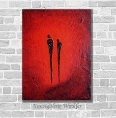 Acrylmalerei - OktobeRöte Acrylbild abstrakt auf Leinwand Unikat - ein Designerstück von Kunstgalerie-Winkler bei DaWanda http://de.dawanda.com/product/88528907-oktoberoete-acrylbild-abstrakt-auf-leinwand-unikat