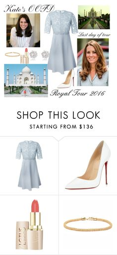"""""""Taj Mahal Tour Day"""" by lexylclark ❤ liked on Polyvore featuring Valentino, Christian Louboutin, Peermont, River Island, Kate, day7 and royaltour2016"""