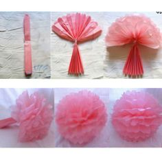 Tissue Paper Flower Balls Pom Poms Wedding Party Shower Decoration