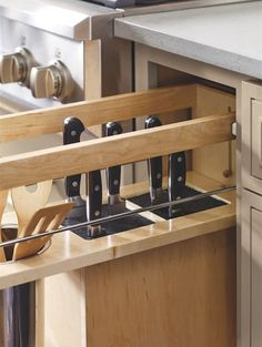 46 Smart Hidden Storage Ideas For Kitchen Decor. Dealing with kitchen clutter is often cited as one of the most arduous of household chores, not least because storage space is at a premium in the fami. Kitchen Buffet, Kitchen Cupboards, New Kitchen, Kitchen Decor, Kitchen Modern, Kitchen Utensils, Kitchen Grey, Kitchen Organization, Kitchen Storage