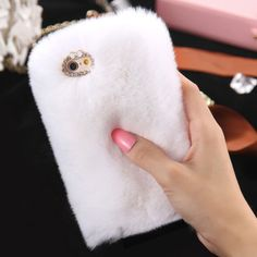 D'Luxe Fur Phone Case (White)