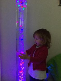 Double Tube Bubble Column - With remote control - Sensory Tools, Sensory Diet, Auditory Processing Disorder, Sensory Processing, Autism Activities, Autism Resources, Lava Lamp, Color Change, Playroom
