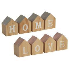 House shape HOME/LOVE letter blocks from Transomnia