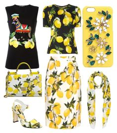 """D&G yellow"" by marypaulson5 ❤ liked on Polyvore featuring Dolce&Gabbana"