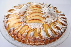 Torta con ricotta, mele e arancia