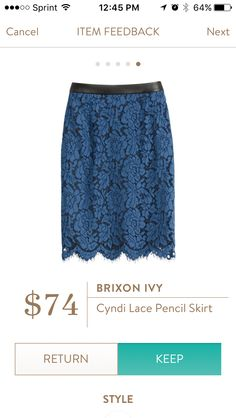 LOVE this, not sure how it would fit, but it's super pretty! Brixton Ivy Cyndi lace pencil skirt https://www.stitchfix.com/referral/5649441