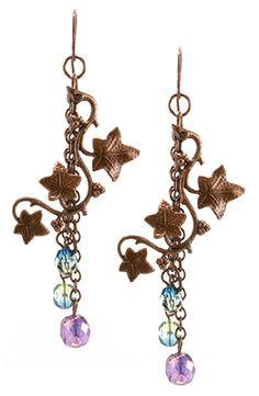 Jewelry Making Idea: Sparkling Vineyard Earrings (eebeads.com)