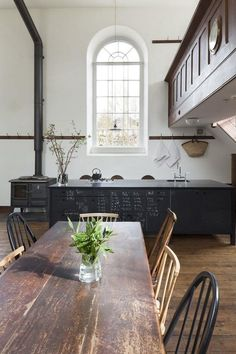 Antique and modern kitchen