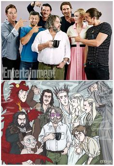 The Hobbit cast with Peter Jackson Legolas, Aragorn, Fellowship Of The Ring, Lord Of The Rings, Hobbit 3, Shadow Of Mordor, Movie Co, Bagginshield, Thorin Oakenshield