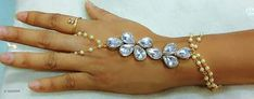 Bangles & Bracelets Stylish Alloy Hand Panja  *Material* Copper  *Size* Free Size  *Description* It Has 1 Piece Of Hand Panja  *Work* Stone Work  *Sizes Available* Free Size *    Catalog Name: Valentine'S Day Special: Ebiya Ladies Stylish Hand Panja CatalogID_124254 C77-SC1094 Code: 741-1028266-