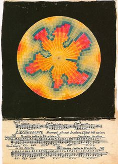 Chromatic drawing by composer Ivan Wyschnegradsky.