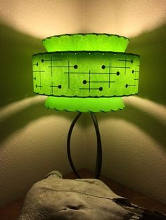 Mid Century Vintage Style Tapered 3 Tier Fiberglass Lamp Shade Atomic Mint - All For House İdeas Mid Century Modern Lamps, Mid Century Lighting, Mid Century Decor, Mid Century Modern Design, Mid Century Style, Mid Century Furniture, Vintage Lamps, Vintage Lighting, Funky Lighting
