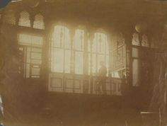 Emile Bernard - Homme à contrejour sur une galerie ornée de moucharabieh, vers 1900