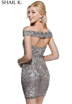 2014 Shail K Off the Shoulder Homecoming Dress 3412
