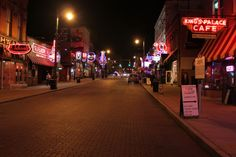 Walk down Beale Street for the true feel of Memphis, TN.