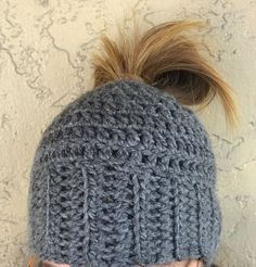 Are you as obsessed with this crochet bun hats as we are??