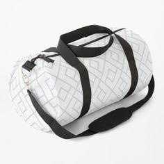 Line Patterns, Custom Bags, Silver Diamonds, Gym Bag, Print Design, Shoulder Strap, Pattern Print, Printed, Awesome