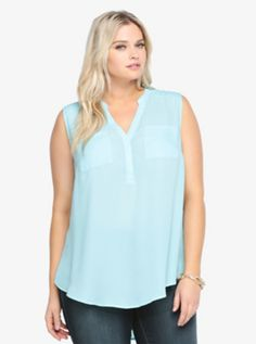Pocket Tank Blouse SKU : 10282064 $38.50