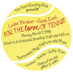 Tennis Party Invitation (5inx5in) (SET of 10)