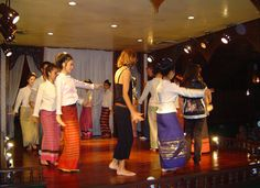 Hill tribe dance at Old Chiang Mai center