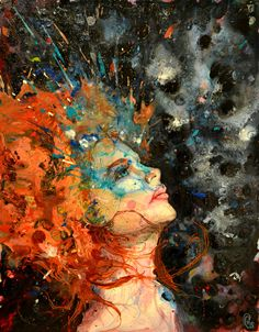 "Nathaniel St Amour; Acrylic, Painting ""Ginger Splash"""