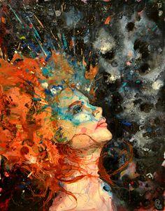 """Nathaniel St Amour; Acrylic, Painting """"Ginger Splash"""""""