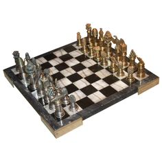 A Fine Cartier Custom Order Sterling Silver Chess Set 1950