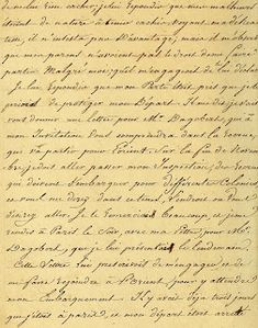 Vintage Ephemera: handwriting.French Script, 1816