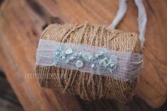 Seafoam Beaded Newborn Headwrap by PrettyLuxeDesigns on Etsy