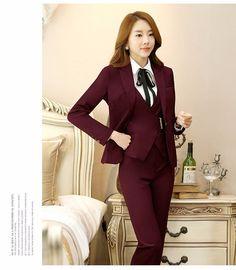 2017 Long Sleeve Autumn Winter 3 Pieces Korean Business Suit For Women - Buy Suit,Business Suit,Korean Business Suit For Women Product on Alibaba.com