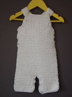 CROCHET PATTERN for Baby overalls  by bearbumz on Etsy