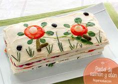 pastel de salmon ahumado y atun